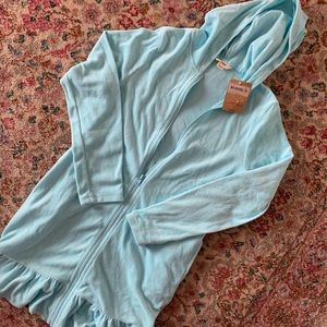 Long-sleeved Terrycloth Swim Cover-Up
